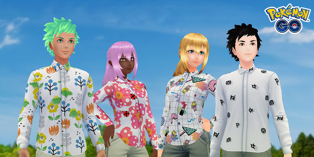 Pokémon Go put Spring Style shirts into the game for players to unlock