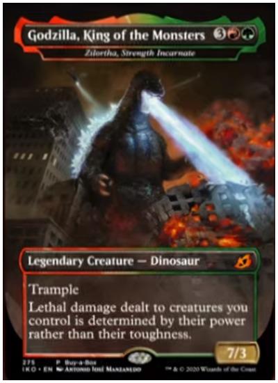IKO Godzilla Rei dos Monstros MTG