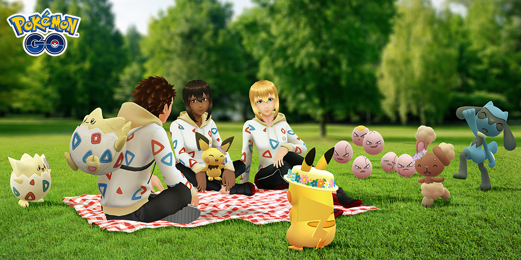 Pokémon Go's Spring 2020 event features Floral Hat Pikachu, Togepi outfits