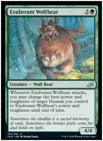 IKO Exuberant Wolfbear MTG