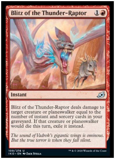 IKO Blitz of the Thunder Raptor MTG