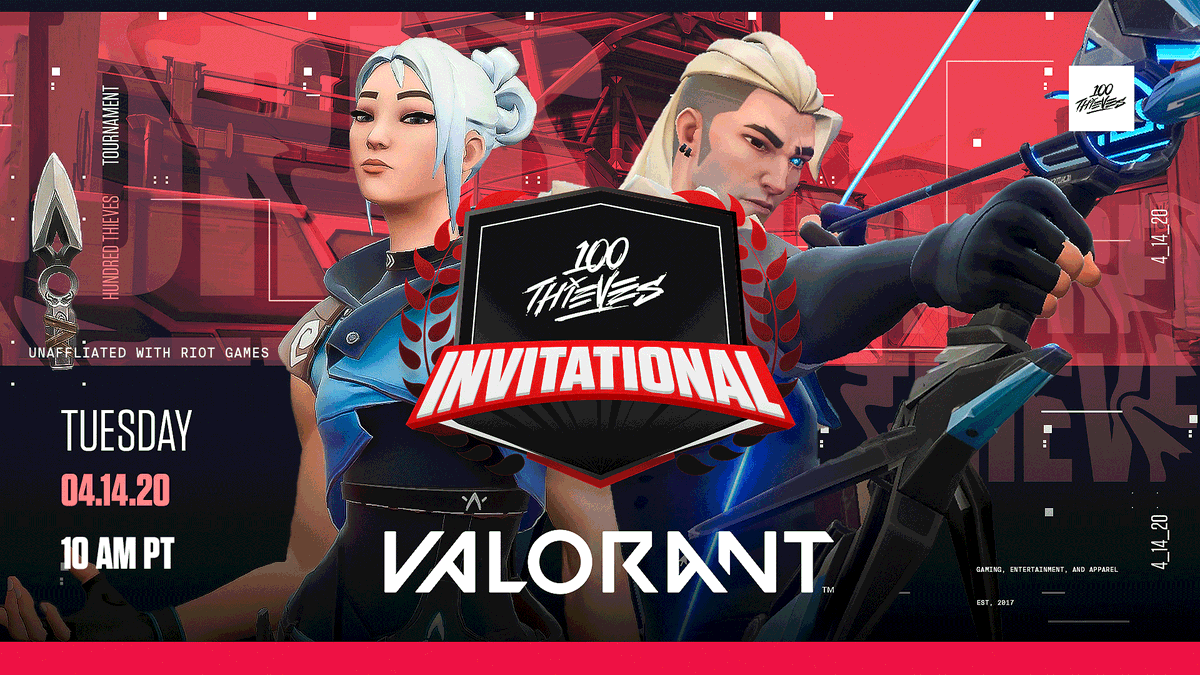 100 Thieves to host VALORANT tournament on April 14