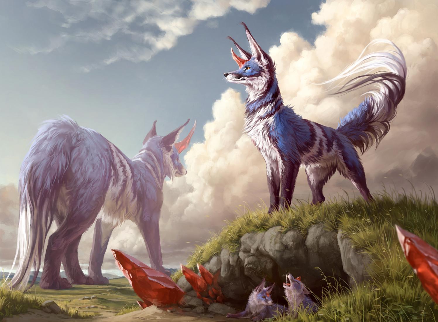 Flourishing Fox Art Magic Ikoria Lair of Behemoths