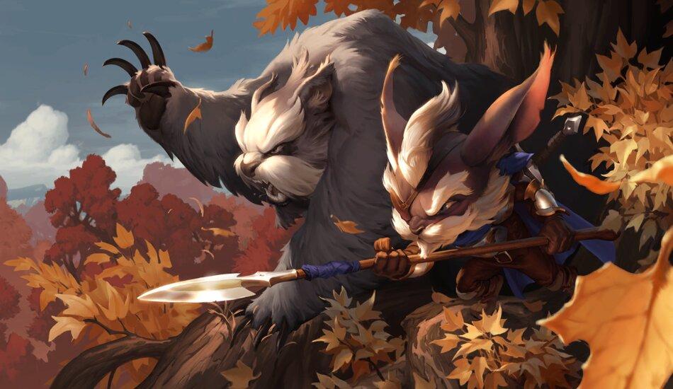 Legends of Runeterra Grizzled Ranger and Loyal Badgerbear