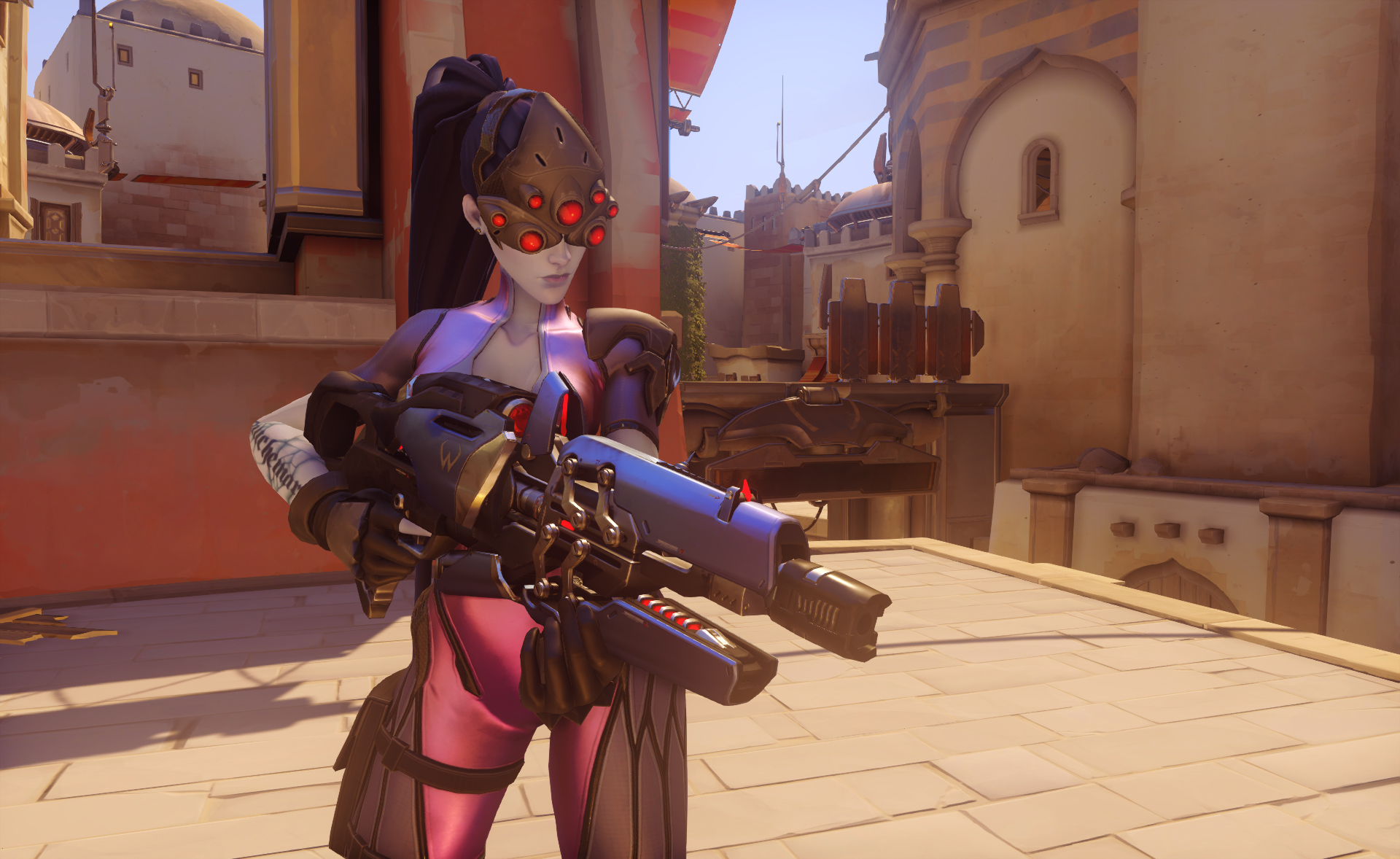 Overwatch fan gives Widowmaker robotic spider legs in the Workshop mode—and it's terrifying