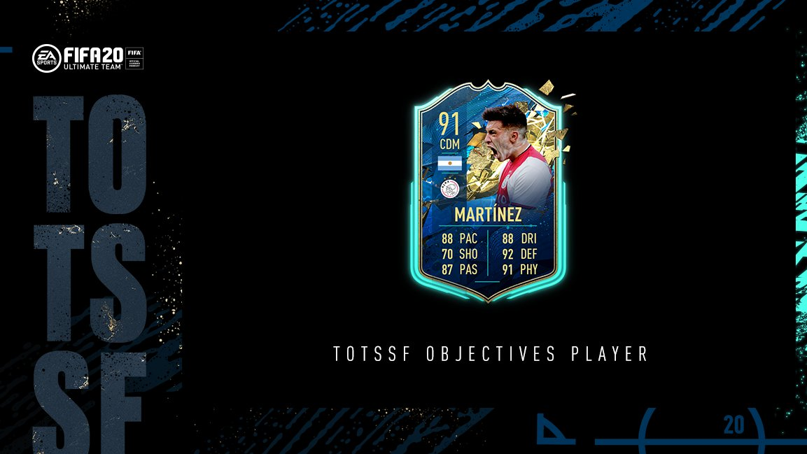 How to complete TOTSSF Lisandro Martínez objectives in FIFA 20 Ultimate Team