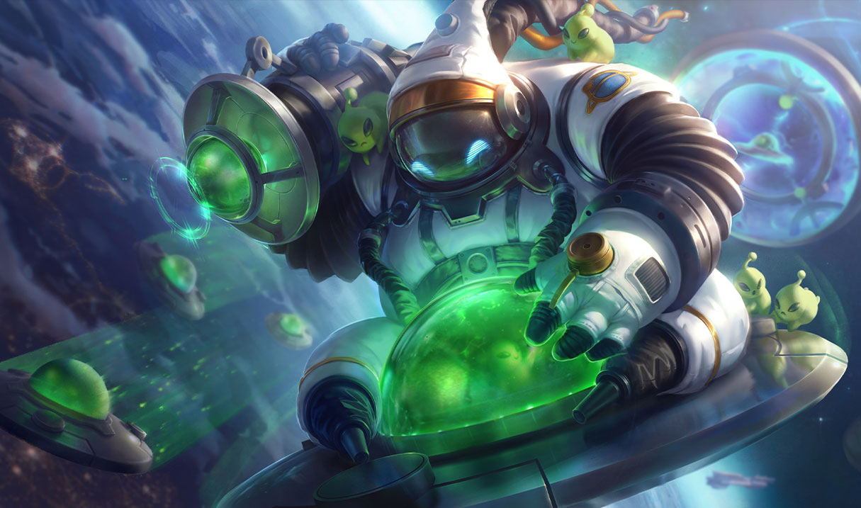 Astronaut Bard, Poppy, and Gnar arrive on League's live servers in Patch 10.11