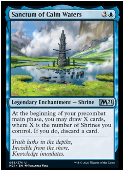 M21 Sanctum of Calm Waters MTG