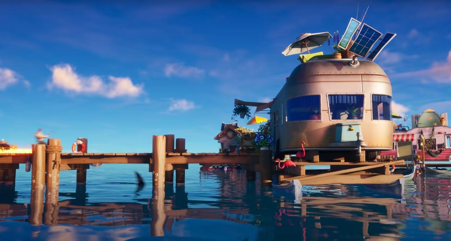 Fortnite Chapter 2 Season 3 Rickety Rig location. Image courtesy of Dot Esports.