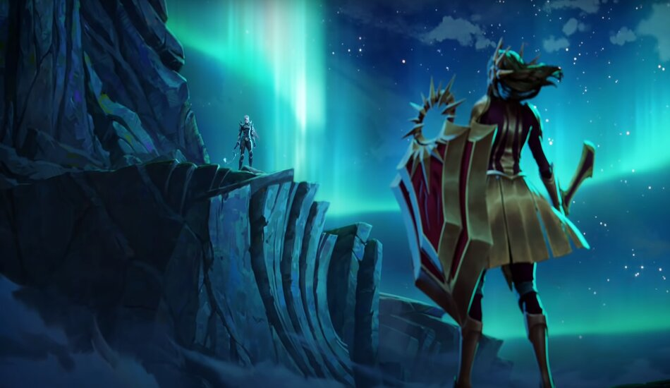 Legends of Runeterra Champions Leona and Diana