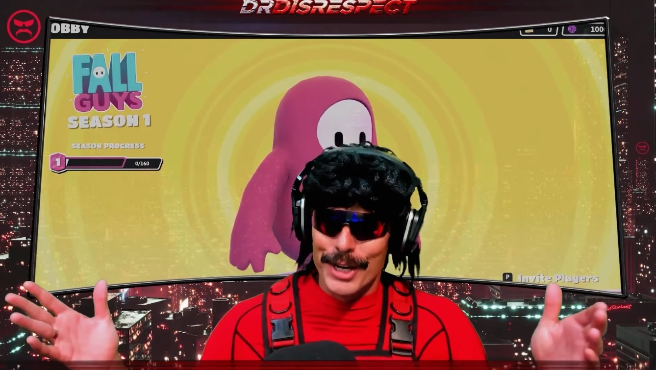 Dr Disrespect is teasing a Fall Guys showdown with PewDiePie today - Dot Esports