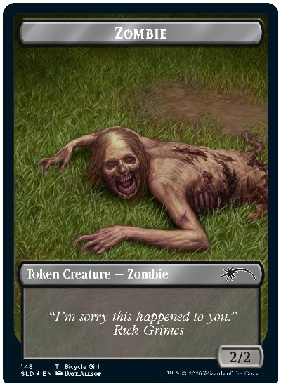 MTG Secret Lair TWD Zombie Token