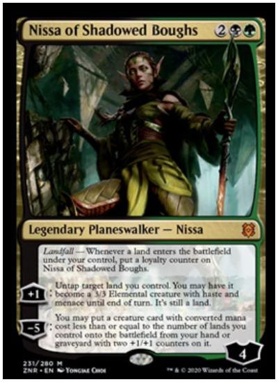 ZNR Nissa of Shadowed Boughs MTG