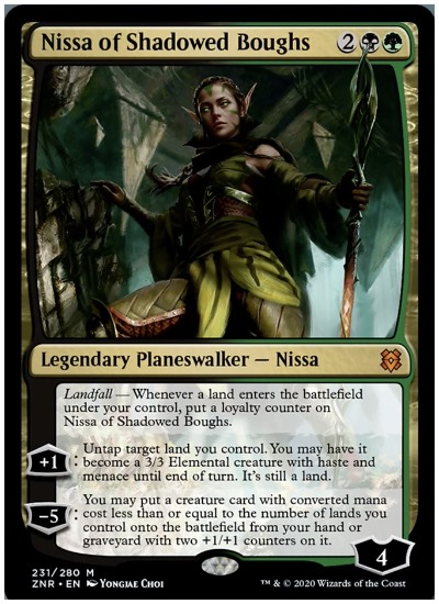 ZNR Nissa of Shadowed Boughs