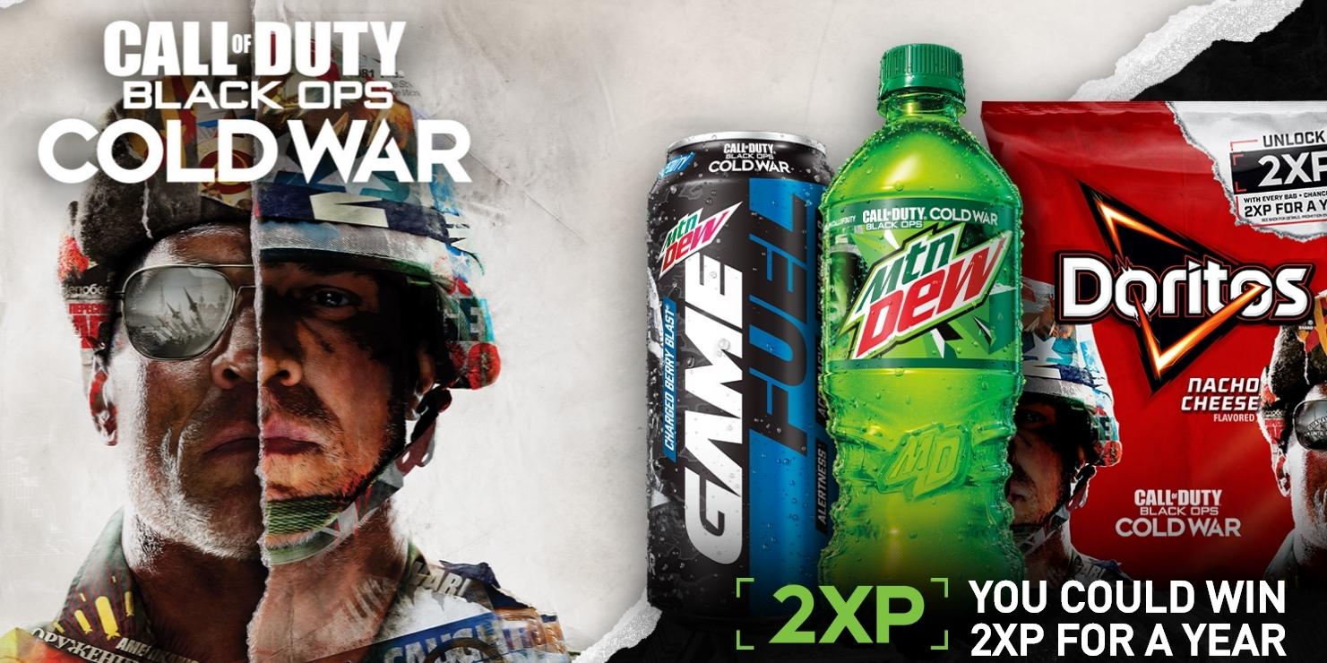call  duty teams   mountain dew  doritos