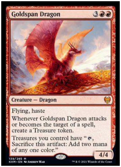 KHM Goldspan Dragon MTG
