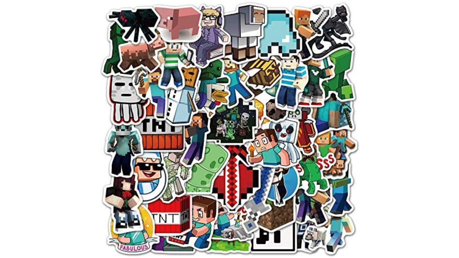 minecraft 50 stickers