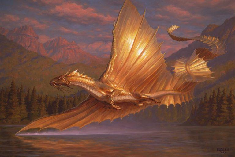AFR Gold Dragon MTG