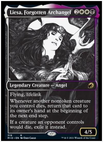 Liesa, Forgotten Archangel Alternative Art Card Style