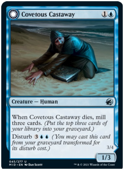 Covetous Castaway Frontside