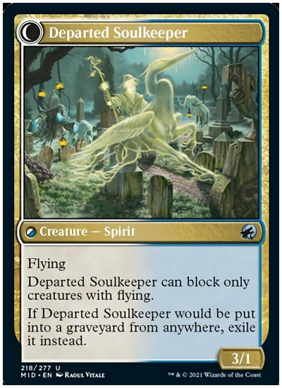 Departed Soulkeeper backside of Devoted Grafkeeper
