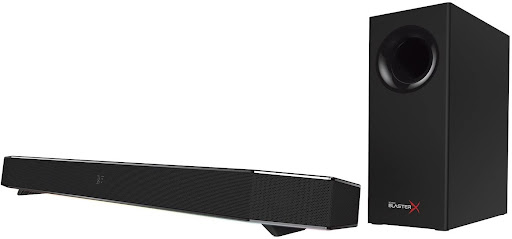 und BlasterX Katana Multi-Channel Surround Gaming and Entertainment Soundbar