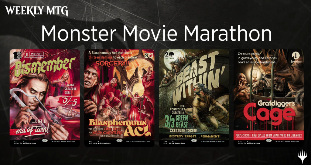 MTG Secret Lair Monster Movie Marathon