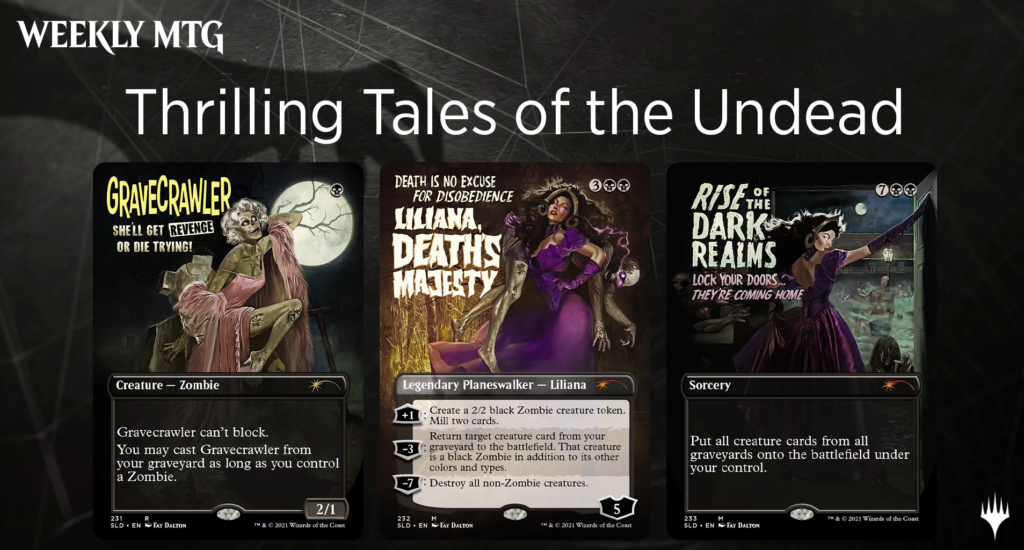 MTG Secret Lair Thrilling Tales of the Undead